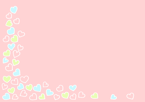 Heart 3 pink white