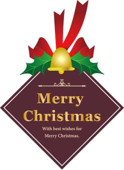 Christmas label diamond