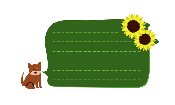 Sunflowers and dogs