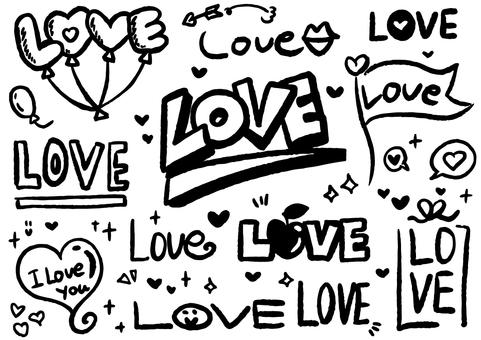 가리 LOVE 문자 세트