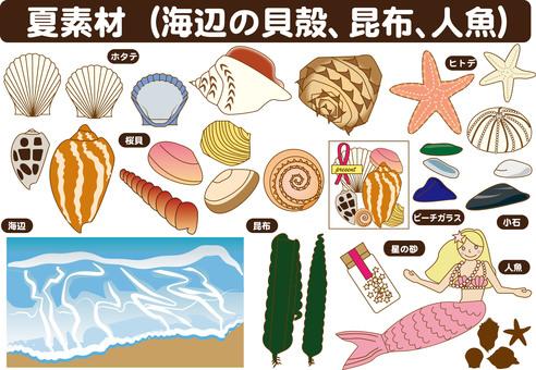 Shells, mermaids etc (summer material)