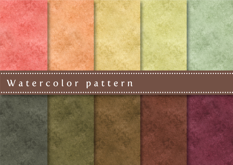 Pattern set 039 watercolor