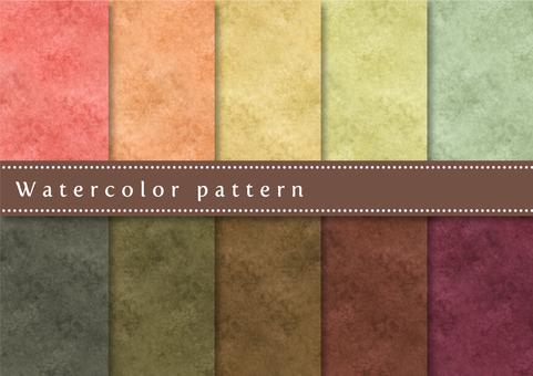패턴 세트 039 수채화
