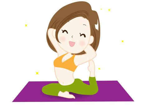 Yoga 2 (Young female individual)