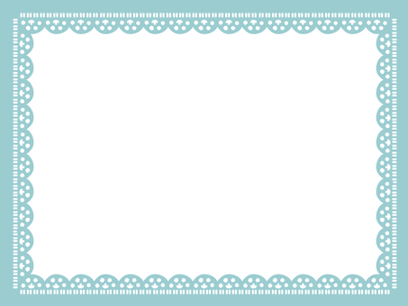 Lace frame <blue series>