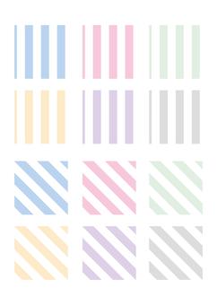 Stripe pattern set