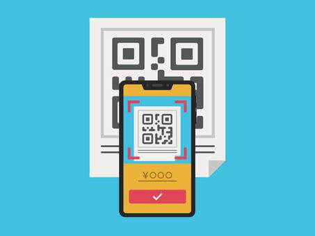 2D barcode payment cashless