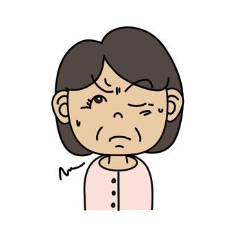 中年婦女_A思維面部表情