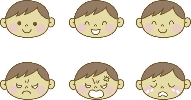 Facial expression Boys