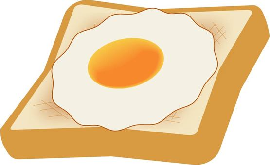 Fried egg toast