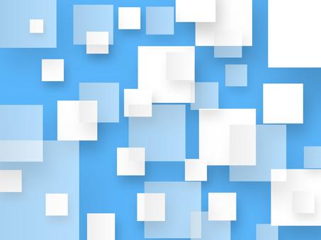 Square Blue White