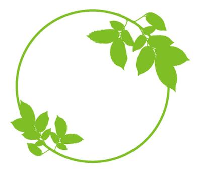 녹색 _ 나뭇잎 _ 원형 패턴