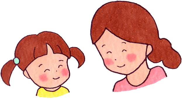 A good friend with a smile (mother and daughter)