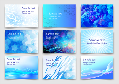 Blue background material texture set