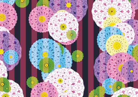 Background of Japanese Pattern (Dahlia)