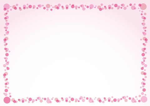 Spring cherry drop frame background picture
