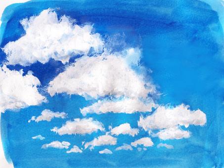 夏天藍色的天空