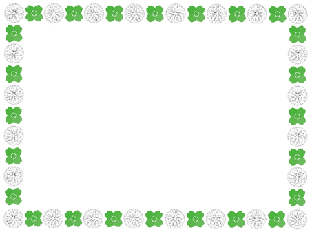 White clover four-leaf frame_Large
