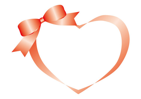 Heart's ribbon red