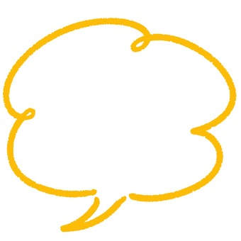 Illustration of speech bubble ① yellow