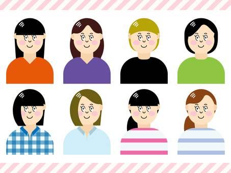 Female 8 person set