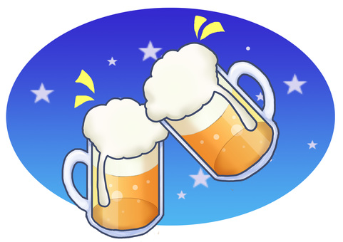 Cheers with draft beer ②