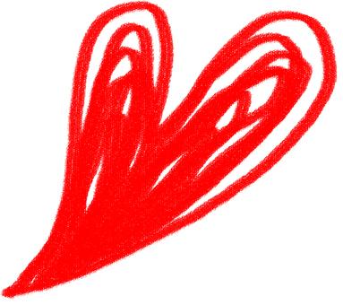 Heart handwriting style