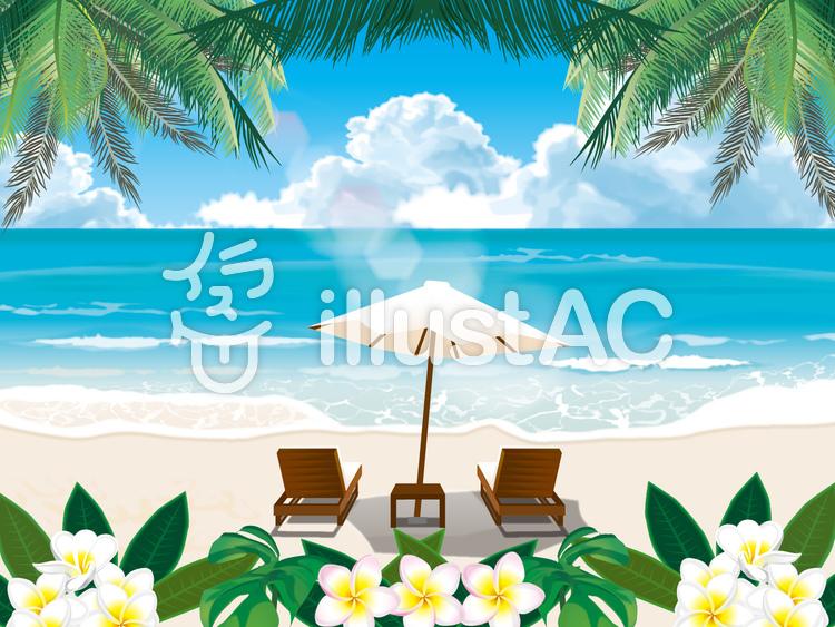 アジアンビーチのイラスト
