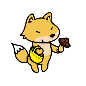 Mushroom hunting fox