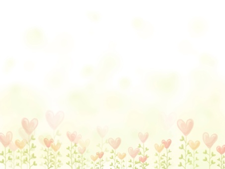 Heart flower frame (with background)