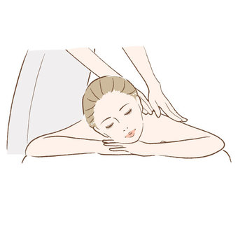 Women receiving massage