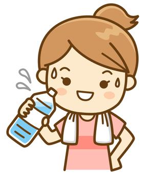 Women supplementing hydration