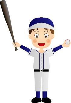 High school baseball boy