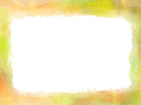 Watercolor autumn color frame