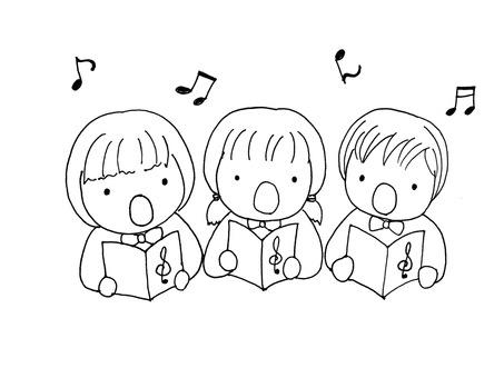 合唱(黑白)