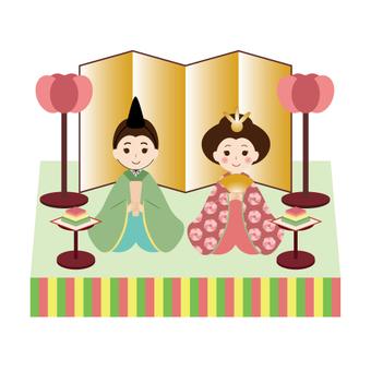Hinamatsuri (with pedestal)