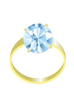Diamond's gold ring