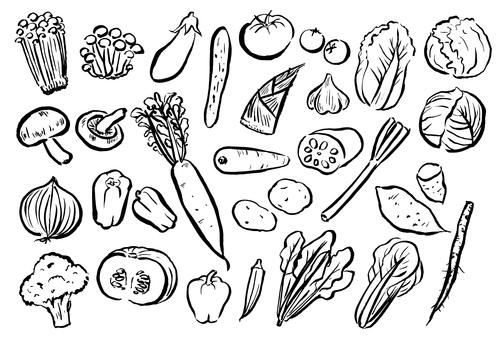 Written vegetables