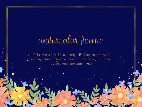 Gerbera frame / blue