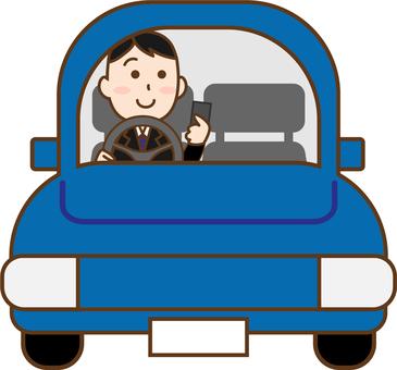 Male smartphone driving