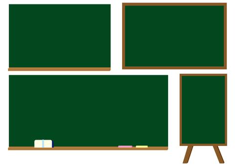 Four blackboards