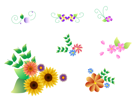 Decorative frame _ flower material