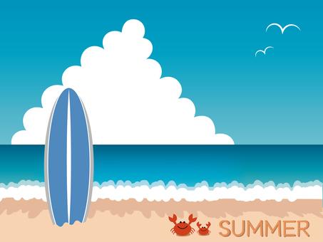 전경 (여름 해변)