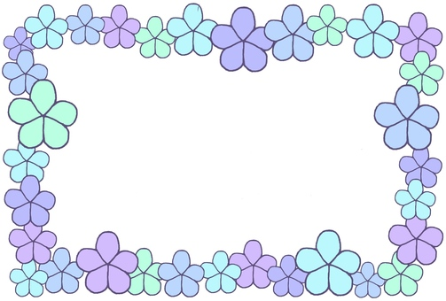 Flower frame (cold color)