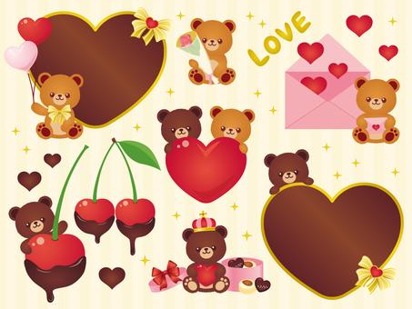 Valentine's Bear Set