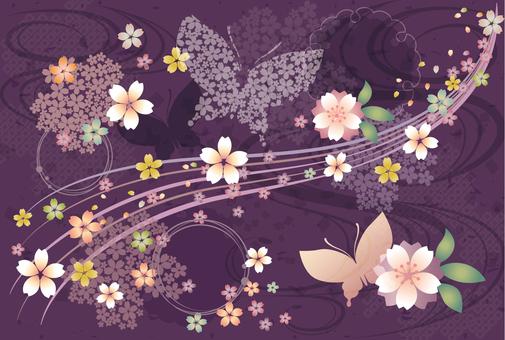 Japanese Pattern Sakura Background 201711