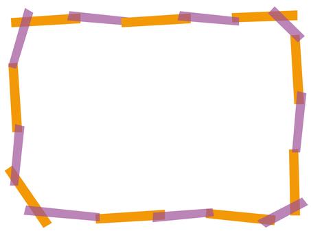 Masking tape frame