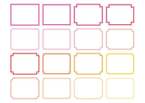 29-フレーム・飾り枠セット1 暖色系