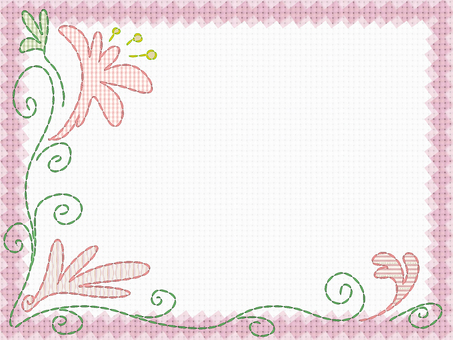 Embroidery card (pink)