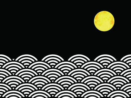 Sea and full moon